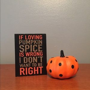 Wooden Pumpkin Spice Small Block Sign